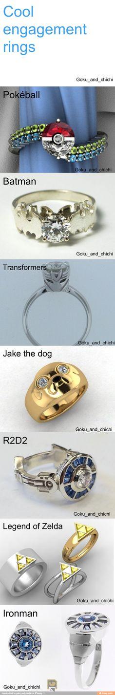 Cool engagement rings / iFunny :) geek, dream, front doors, batman, wedding rings, accessories, dog, engag ring, engagement rings
