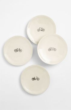 Traci French | Magenta Bike Plates (Set of 4) by Rae Dunn