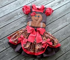 I love this Christmas dress for toddler's.