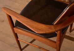 Pair of Ib Kofod Larsen 1950's chairs