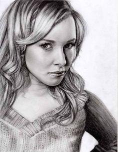 Pencil Portrait Like the Hair Detail.