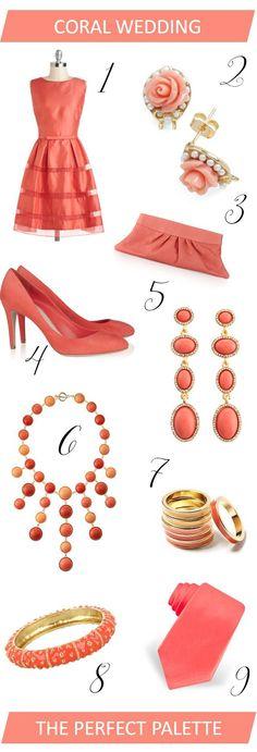 {wedding wardrobe}: coral ideas for bridesmaids!