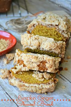 Pumpkin Ginger Streusel Bread - a delicious addition to your holiday menu!