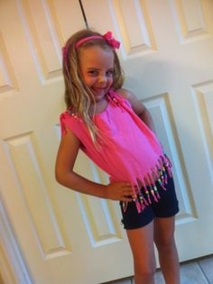 Beaded cut t shirt -- cute for any age.