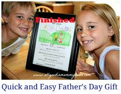 It's ALL Good in Mommyhood: Quick and Easy Father's Day Gift