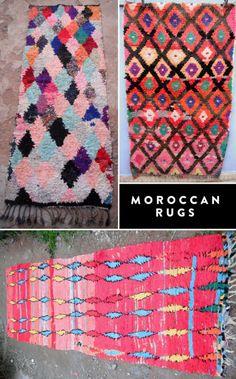 Vintage Moroccan Boucherouite Rugs / eBay.