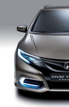 ♂ Silver car Honda Civic Tourer Concept
