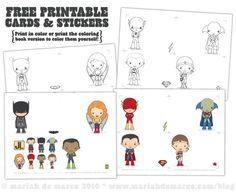 Justice League printables
