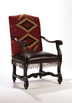 Eye Dazzler Navajo Rug Arm Chair, Double D Ranch Home Collection