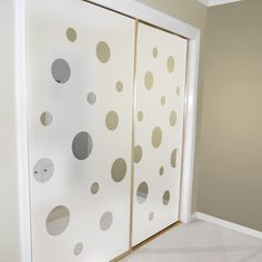 closet door alternatives | Mirrored closet doors decorated with Porthole Views by Wallpaper For ...