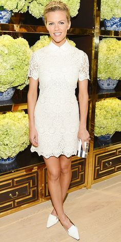 Brooklyn Decker Is A Standout At Tory Burch Store Opening | WhoWhatWear.com lace dresses