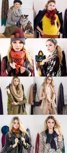 8 Ways to Tie a Scarf. Watch the video.