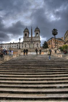 Spanish Steps! Look at that sky!  #Europe2013