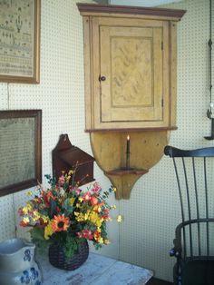 Late 18th century York Co. Pennsylvania Hanging Corner Cupboard