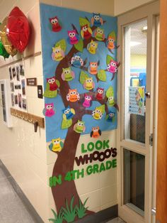 Owl+Classroom+Ideas   Owl bulletin board for Open House night! Use scrapbook paper to make ...