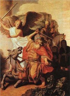 rembrandt, bible stories, vans, balaam ass, donkey, number, artist, mouths, van rijn