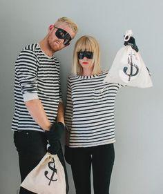 Easy DIY Couples Halloween Costume Idea: Bandit costume