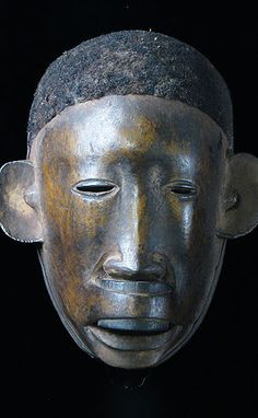 African Mask - Makonde face with lip plug, Tanzania