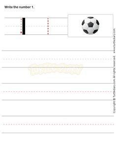 Number Writing Worksheet 1 - math Worksheets - preschool Worksheets