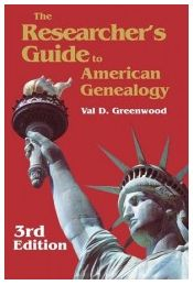 """Photo of the cover of """"The Researcher's Guide to American Genealogy, Third Edition"""" by Val D. Greenwood. Read more on the GenealogyBank blog: """"Must-Read Genealogy Books."""" http://blog.genealogybank.com/must-read-genealogy-books.html"""