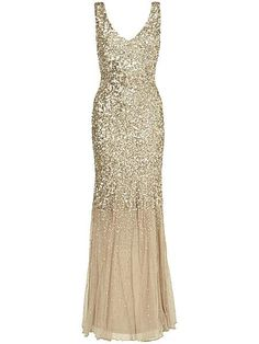 Luna sequin full length dress - House of Frazer - £350