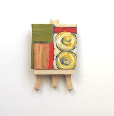 Mini Canvas Abstract  Painting original acrylic by BrookeHowie, $26.00 #681team http://www.etsy.com/treasury/MTEyNDE4NDB8MjcyMzMwMTIwOA/coffee-time