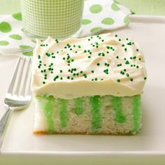 Wearing O' Green Cake Recipe - Holidays