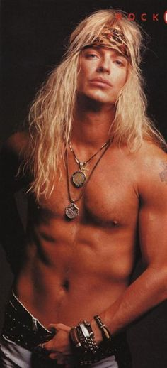 Hotter now, but not bad then. Bret Michaels, Poison #tbt #80s