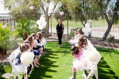 Adorable birthday party ideas for kids. Let little girls dress up and create a runway in the backyard for a fashion show