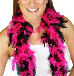 This full fluffy pink & black Feather Boa is just $4.99 at The House of Bachelorette! It is an amazing Bachelorette Party Favor or Bachelorette Party Decoration!
