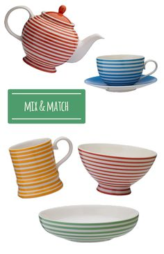 Breton-style striped kitchenware from Whittard of Chelsea