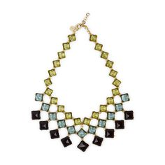 Love this Square Stone Drama Necklace for $98 on C. Wonder