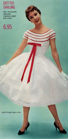Paris Shop - Dotted Darling dress, 1956