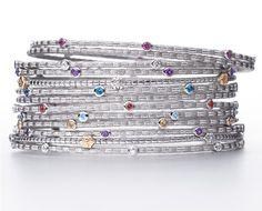 ARIVA birthstone stacking bangles