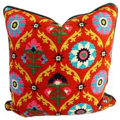 decor, kim salmela, medallion pillow, bold pattern, cushion, pillow kim, pattern pillow, pillows, gorgeous pillow