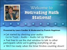 Free Math Stations webinar recording by Laura Candler