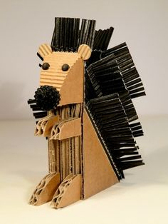 Cardboard hedgehog