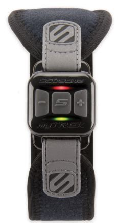 The Scosche myTrek Wireless Pulse Monitor wristband