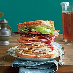 The Best Leftover Turkey Sandwich Ever | With tasty additions of mayonaise, bacon and tomato, this hearty sandwich makes the most of your leftover Thanksgiving turkey and cranberries.