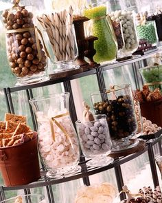 Candy Bar. Great idea not just for weddings but for any party.