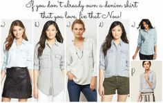 Denim Shirt Options!