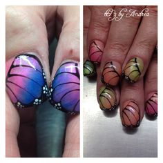 Butterfly wing nails  tiPz by Andrea Medicine Hat Alberta
