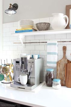 Coffee station from The Inspired Room (and a summer house tour!)