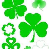 Give a like for free printable shamrock stencils!