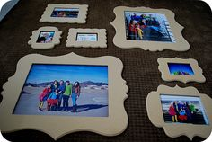 Cut it Out frames {great prices & you can paint them your own colors!}