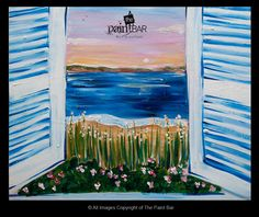 Cape View Painting - Jackie Schon, The Paint Bar canva paint, view paint, paint parti, paint bar, paint night, group paint