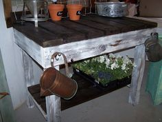 Beyond The Picket Fence - Great Outdoor or Garage table!