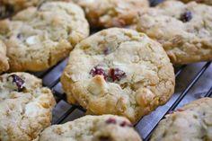 White Chocolate CranberryCookies - Blue-Eyed Bakers - Blue Eyed Bakers