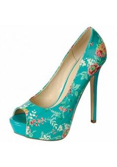 PEEP-TOE FLORAL PUMP-Heels-prom heels,high heels shoes,leopard heels,hot pink heels,cheap heels,party shoes heels,sexy heels,Platform Heels,high heel pumps,Wedge Heels,Flat Heels