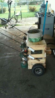 Pvc on pinterest pvc pipes vinyl storage and used tires for Fishing caddy bucket
